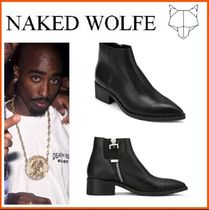 Naked Wolfe(ネイキッドウルフ) ブーツ 日本未入荷!新作18SS☆NAKED WOLFE☆BUTCHER BLACK LEATHER
