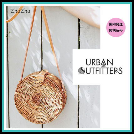 Urban Outfitters かごバッグ UrbanOutfitters★トレンド!ラウンドストロークロスボディバッグ