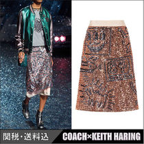 COACH★COACH×KEITH HARING エンベリッシュド スカート ピンク