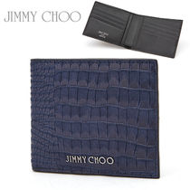 Jimmy Choo★メンズ折りたたみ財布 MARK CRK SMOKY BLUE