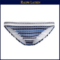 【ラルフローレン】Striped Crochet Hipster Bottom★Indigo