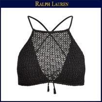 【ラルフローレン】Striped Crocheted Bikini Top★Black