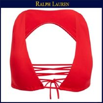 【ラルフローレン】Lace-Up Halter Top★Paris Red