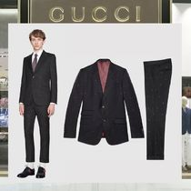 18SS GUCCI ☆Heritage bees ウールセットアップスーツ ネイビー