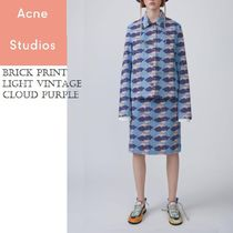 ACNE Brick Print Light Vintage Cloudプリントデニムジャケット