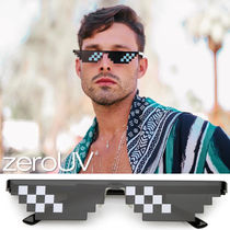 zeroUV*NOVELTY THUG LIFE MEME CARTOON 8 BIT GRAPHIC SUNGLAS