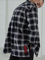 TWICE ミナ着用 ATTENTIONROW Side slit2 Flannel Check Shirt