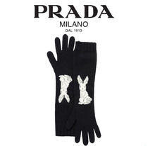 PRADA【関税・送料込☆】cashmere gloves with rabbit motif