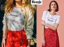 Rouje(ルージュ) Tシャツ・カットソー ★パリ発 Rouje★ LOUIS Tシャツ ロゴ入り シンプル ホワイト♪