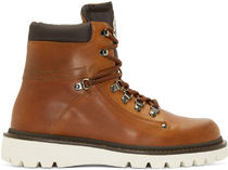 ☆ MONCLER ☆ EGIDE Brown leather boots  ブーツ ブラウン