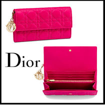 送料関税込☆Christian Dior LADY DIOR Continental ウォレット