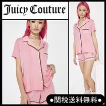 """Juicy Couture"""" パジャマ上下セット ロゴ半袖&ショーツ"""