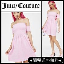 """Juicy Couture"""" MICROTERRY オフショルスモックワンピ"""