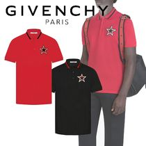 【GIVENCHY】2色展開◆コントラスト スターパッチポロシャツ