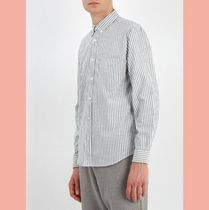 ACNE STUDIOS wood point-collar striped cotton shirt Isher