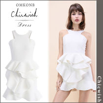 【国内発送・関税込】Chicwish★Tiered Pep Ruffle Hem Dress