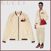 GUCCI(グッチ) Bomber in pizzo floreale ブルゾン
