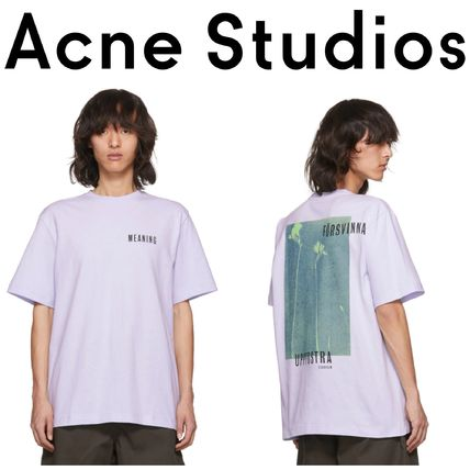 Acne Tシャツ・カットソー 【Justin Bieber愛用】Purple Jaceye 'Meaning' Print T-Shirt