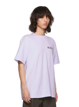 Acne Tシャツ・カットソー 【Justin Bieber愛用】Purple Jaceye 'Meaning' Print T-Shirt(3)