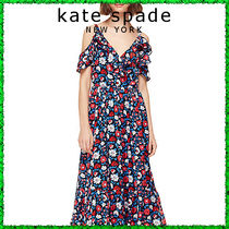 ★katespate★デイジー柄ワンピ(daisy satin stripe midi dress)