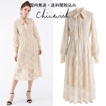 国発/送関込☆Chicwish☆Exclusive Floral Lace Pussy-Bow Dress