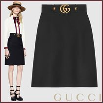 GUCCI(グッチ) Gonna in crepe di lana e seta スカート