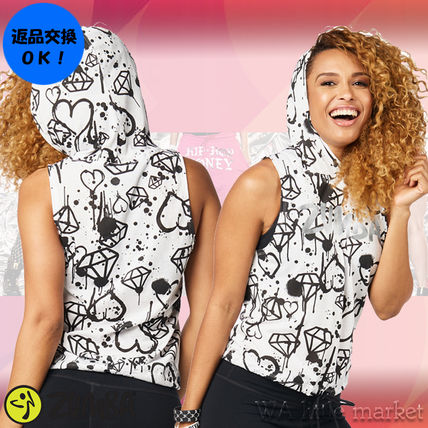 4月新作【送料無料】Zumba Diamond Diva Sleeveless Hoodie