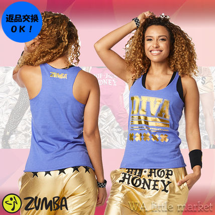 4月新作【送料無料】Zumba Diva Defined Loose Tank★Blue