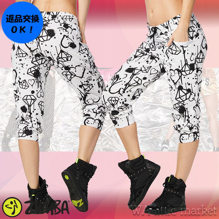 4月新作【送料無料】Zumba Diamond Diva Cropped Sweatpants