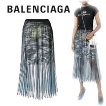 【18SS】大注目!!★BALENCIAGA★camouflage pleated skirt