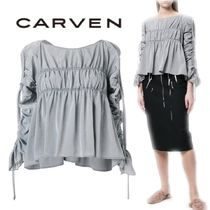 【18SS】大注目!!★CARVEN★gathered detail blouse