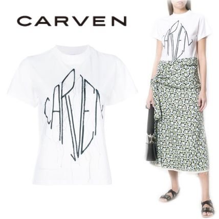 CARVEN Tシャツ・カットソー 【18SS】大注目!!★CARVEN★logo patch T-shirt