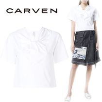 【18SS】大注目!!★CARVEN★twisted neck T-shirt