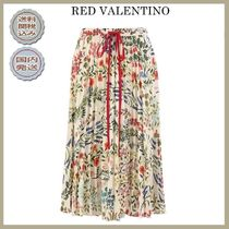 18SS 関税送料込 RED VALENTINO pleated midi skirt in floral