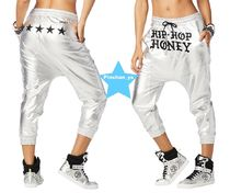 H30.4【ZUMBA】Hip Hop Honey Metallic Harem Pants Z1B00699