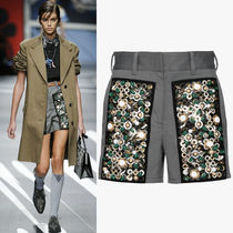 PR1126 LOOK21 EMBELLISHED STRETCH DRILL SHORTS