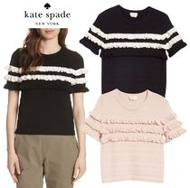 *Kate spade*フリル ニット ruffle short sleeve sweater