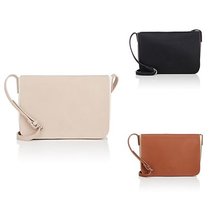 【Barneys New York】Leather Crossbody Bag