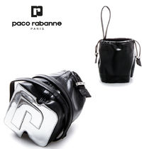 paco rabanne(パコラバンヌ) ハンドバッグ 追跡ありで安心☆paco rabanne Leather pouch with drawstring