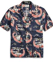 新作★送料関税込★RRL Tropical-Print Camp Shirt