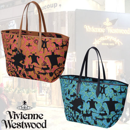 【Vivienne Westwood】ケーブブロケード トートバッグ Pink&Blue