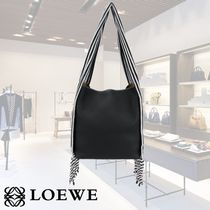 VIPSALE LOEWE LEATHER SCARF BUCKET BAG 32152T691185