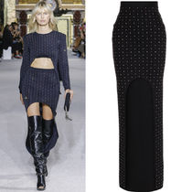 18SS BAL270 LOOK53 RHINESTONE EMBELLISHED LONG SKIRT