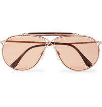 Private Collect Tom N.6 Aviator Rose Gold Acetate サングラス