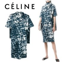 【18SS】大注目!!★CELINE★printed fitted dress