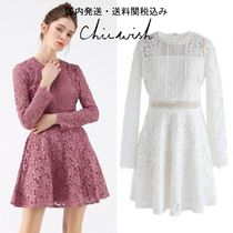 国内発・送関込☆Chicwish☆Garden Party Floral Crochet Dress