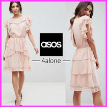 ASOS☆Y.A.S☆レース付フリルスケータードレス