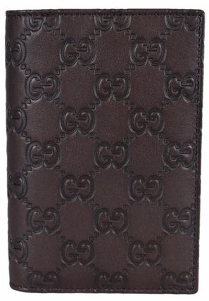 GUCCI パスポートケース・ウォレット Gucci 154694 Brown Leather GG Guccissima Passport Holder