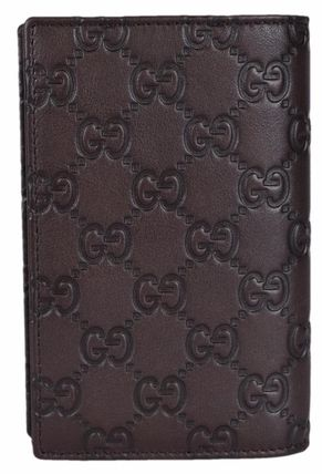 GUCCI パスポートケース・ウォレット Gucci 154694 Brown Leather GG Guccissima Passport Holder(3)