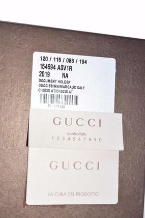 GUCCI パスポートケース・ウォレット Gucci 154694 Brown Leather GG Guccissima Passport Holder(4)